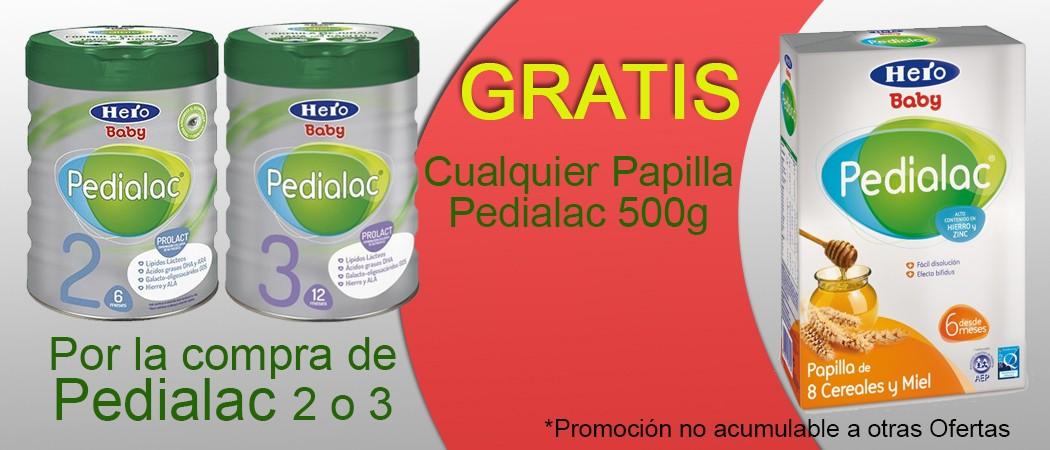 Promoción Pedialac Papilla Gratis