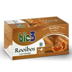 Infusión Bio3 Rooibos con Naranja. 25 bolsitas