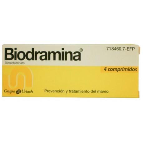 BIODRAMINA (50 MG 4 COMPRIMIDOS)