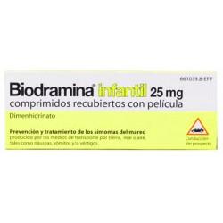 BIODRAMINA INFANTIL (25 MG 12 COMPRIMIDOS