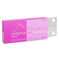 CINFAMAR INFANTIL (25 MG 4 COMPRIMIDOS)