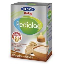 Papilla Hero Baby Pedialac 8 cereales con Galleta. A partir de 6 meses.