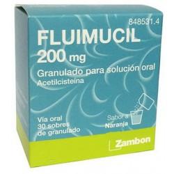 FLUIMICIL (200 MG 30 SOBRES GRAN.SOL.ORAL)