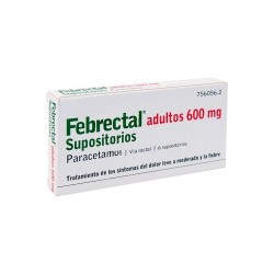 FEBRECTAL 600 MG 6 SUPOSITORIOS