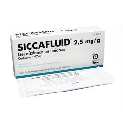 SICCAFLUID 2.5 MG/G GEL OFTALMICO 30 MONODOSIS 0.5 G