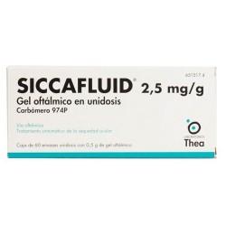 SICCAFLUID 2.5 MG/G GEL OFTALMICO 60 MONODOSIS 0.5 G