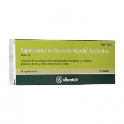 SUPOSITORIOS GLICERINA VILARDELL LACTANTES 0.92 G 6 SUPOS. BLISTER
