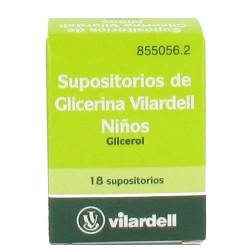 SUPOSITORIOS GLICERINA VILARDELL INFANTIL 1.58 G 18 SUPOS.