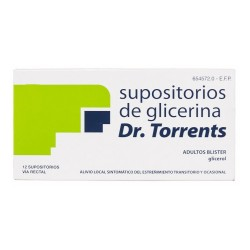 SUPOSITORIOS GLICERINA DR TORRENTS ADULTOS 3.27 G 12 SUPOS. BLÍSTER