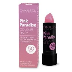 Bálsamo labial y protector solar Pink Paradise 50 SPF