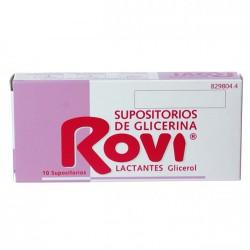 SUPOSITORIOS GLICERINA ROVI LACTANTES 10 SUPOS.