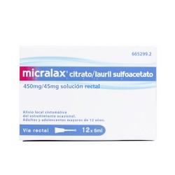 Micralax microenema emulsión rectal 12 unidades5 ML