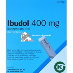 IBUDOL (400 MG 20 SOBRES SUSP. ORAL 10 ML)