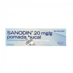 SANODIN 20 mg/g pomada bucal