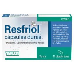 RESFRIOL 20 CAPSULAS DURAS