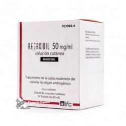 REGAXIDIL 50 MG/ML SOL. CUTANEA 4 FRASCO 60 ML