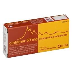 CINFAMAR (50/50 MG 4 COMPRIMIDOS)