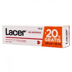 LACER gel dentifrico con fluor 125+25 ml.