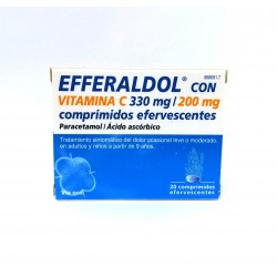 EFFERALDOL  VITAMINA C (20 COMP.EFERV.)
